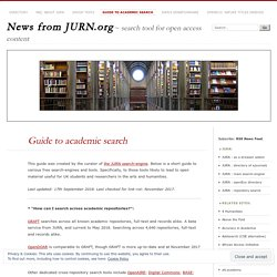 Guide to academic search