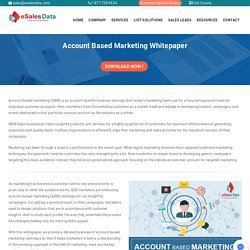 A Guide To Account Based Marketing