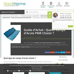 Guide d'Achat : Choisir sa Rampe d'Accès PMR