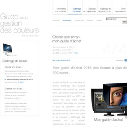 Guide d'achat d'écrans photo par Arnaud Frich