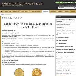 Guide d'achat d'Or