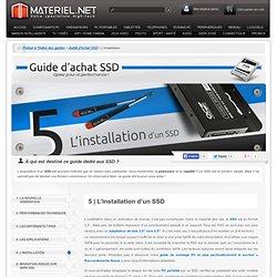 Guide d'achat SSD, l'installation d'un SSD