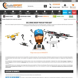 Guide d'achat et de vente de drones