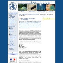 Guide de l'outil de suivi des actions éco-responsables