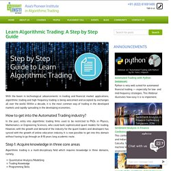 Technological advancements in trading and financial market applications