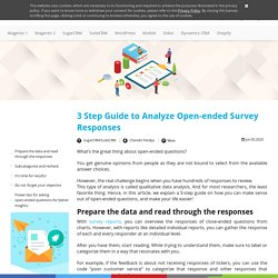 3 Step Guide to Analyze Open-ended Survey Responses