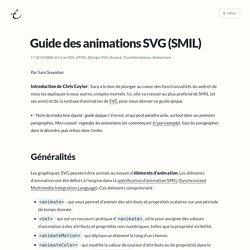 Guide des animations SVG (SMIL)