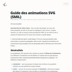 Guide des animations SVG (SMIL)