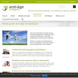 Guide anti-âge pratique