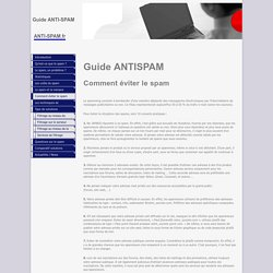 Guide anti-spam - Comment éviter le spam