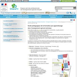 Guide Apprentissage