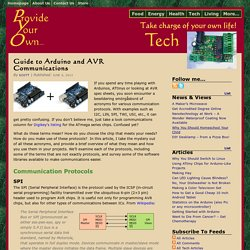Guide to Arduino and AVR Communications