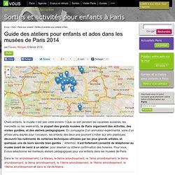 Guide des ateliers pour enfants et ados dans les musées de Paris 2014