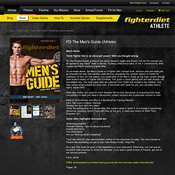 FD The Men's Guide (Athlete) - Fighter Diet for MEN - Store - Athlete