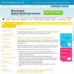 Guide auto-entrepreneur : FAQ