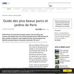 Guide des plus beaux parcs et jardins de Paris