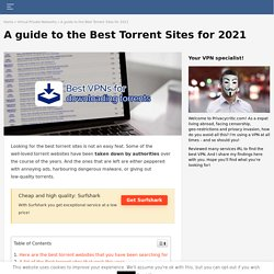 A guide to the Best Torrent Sites for 2020