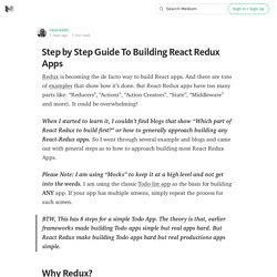 Step by Step Guide To Building React Redux Apps