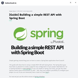 [Guide] Building a simple REST API with Spring Boot