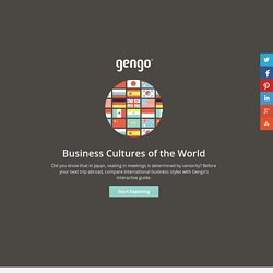 Guide to Business Cultures Around the World