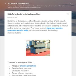 Guide for buying the best shearing machines