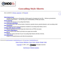 WDG Guide To Cascading Style Sheets