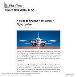 A guide to find the right charter flight service – Flight time gmbh blog