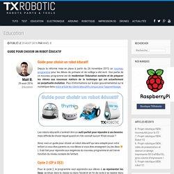 Guide pour choisir un robot éducatif