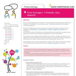Guide Compétences clés - Fiche éclairage 4