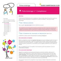 Guide Compétences clés - Fiche éclairage 1