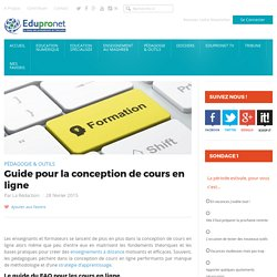 Guide pour la conception de cours en ligne