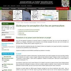 Guide pour la conception d'un lieu en permaculture