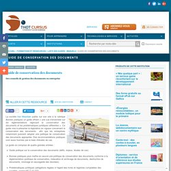 Guide de conservation des documents