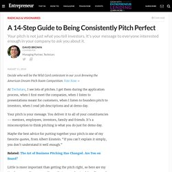 A 14-Step Guide to Being Consistently Pitch Perfect