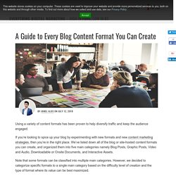 A Guide to Every Blog Content Format You Can Create