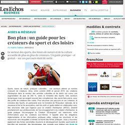 Bon plan : un guide pour les créateurs du sport et des loisirs