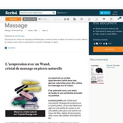 Guide des Cristaux de Massage