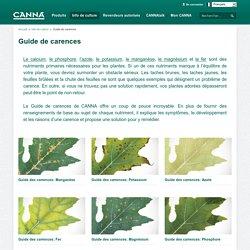 Guide de carences