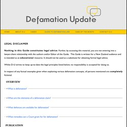 Guide to Defamation Law
