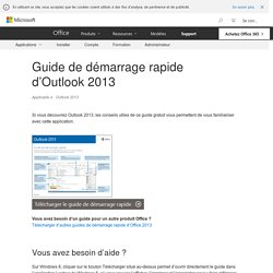 Guide de démarrage rapide d'Outlook 2013 - Outlook