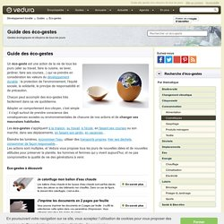 Guide des éco-gestes / Vedura, société d'information et de sensiblisation au développement durable