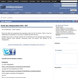 Guide des indispensables 2014 : SVT