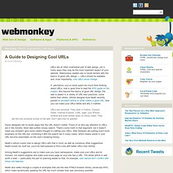A Guide to Designing Cool URLs