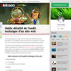 Guide détaillé de l'audit technique d'un site web - Optimisation technique - Analyse technique