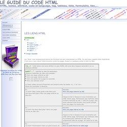 Guide du code HTML : Les liens HTML
