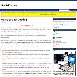 Guide to dual-booting