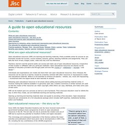 A guide to open educational resources
