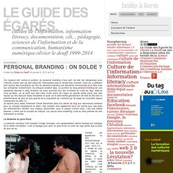 Personal Branding : on solde
