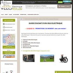 Aide au choix vélo assistance électrique