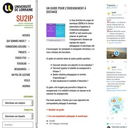 Un guide pour l'enseignement à distance - SU2IP
